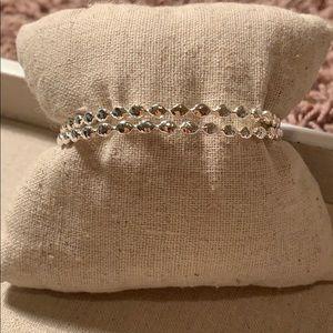 Stella and dot silver bangles